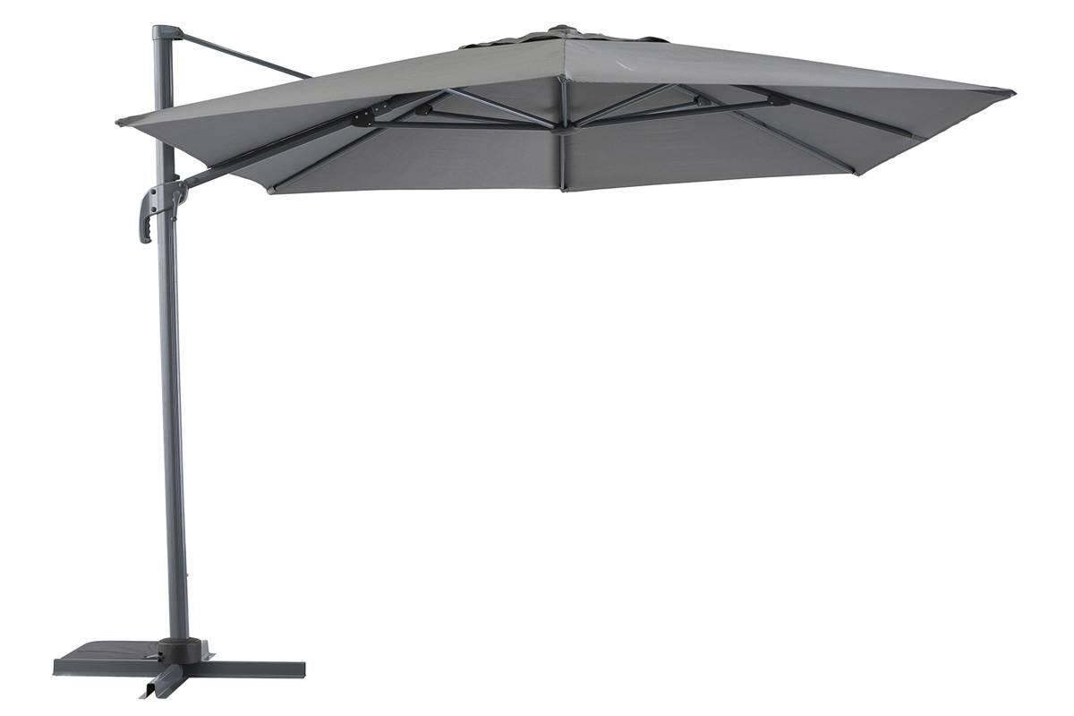 parasol d port fresno gris anthracite 3x4 2 m aluminium. Black Bedroom Furniture Sets. Home Design Ideas
