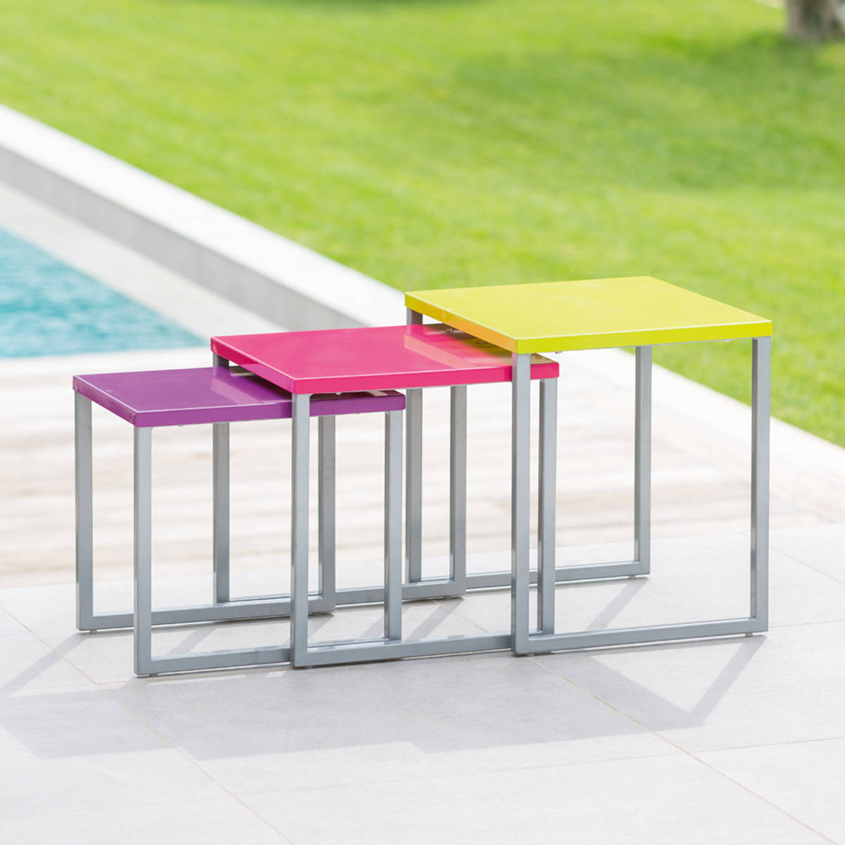 Table gigogne 2 for Petite table d appoint exterieur